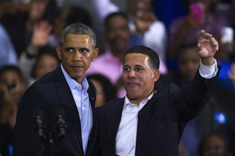 President Barack Obama and Maryland Gubernatorial Democrat candidate Lt. Governor Anthony Brown / AP
