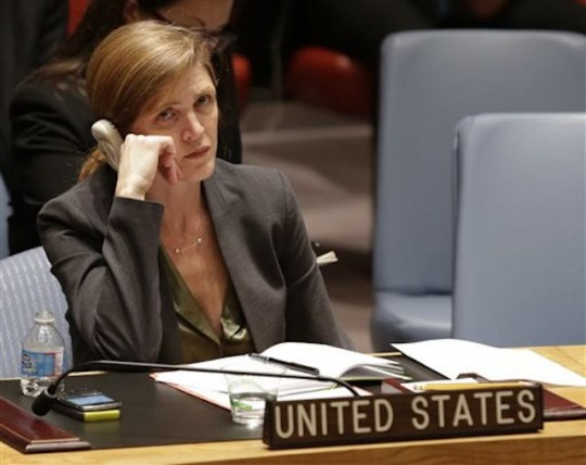 Samantha Power at a U.N. Security Council meeting on South Sudan / AP