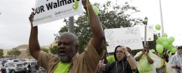 OUR Walmart protest in North Miami Beach, Fla. / AP