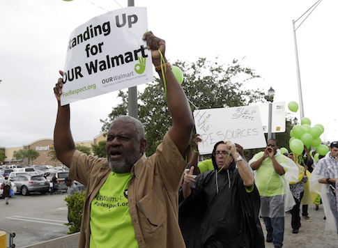 OUR Walmart protest in North Miami Beach, Fla. / AP