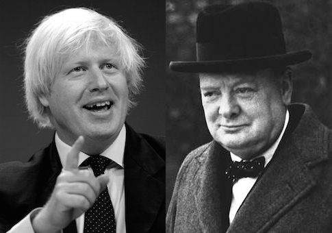 Boris Johnson, Winston Churchill /