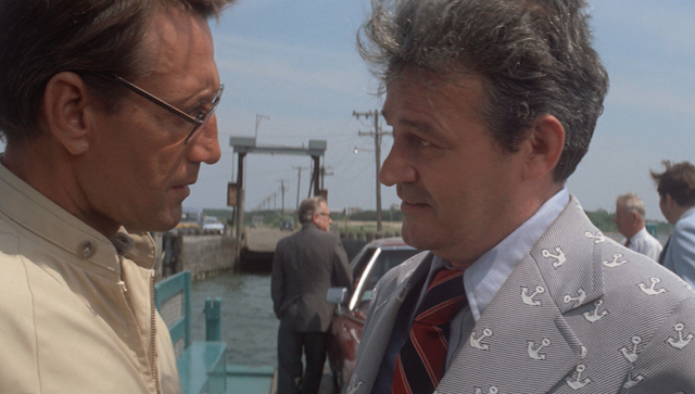 Mayor Vaughn, right, proving that Jaws is also a movie about horrible fashion sense