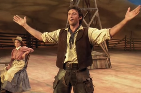 Hugh Jackman performs 'Oh What a Beautiful Morning' in Oklahoma!