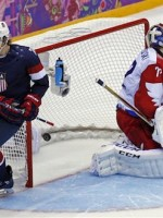 T.J. Oshie scores a goal in a shootout against Russia / AP