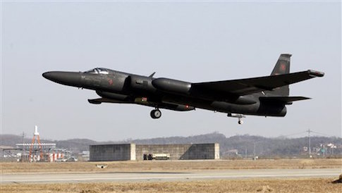 In this photo taken Feb. 16, 2012, a U.S. Air Force U-2 spy plane takes off during a training flight at the U.S. airbase in Osan, south of Seoul, South Korea
