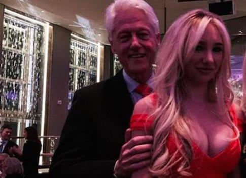 Bill Clinton creeps on daughter of John Catsimatidis / Twitter