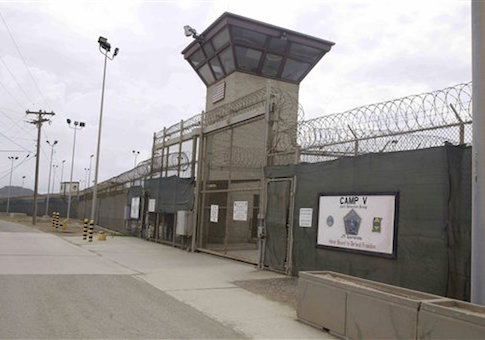 The entrance to Camp 5 and Camp 6 at the U.S. military's Guantanamo Bay detention center