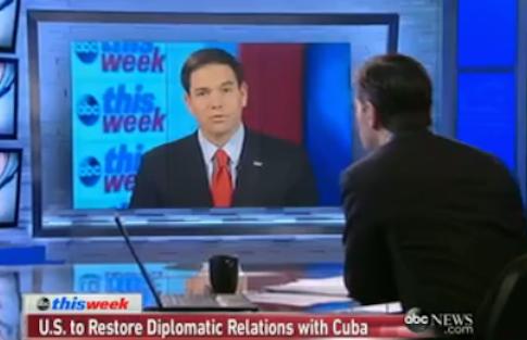 Sen. Marco Rubio (R., Fla.) on ABC's 'This Week'