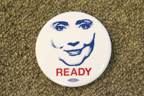 Ready for Hillary button / AP