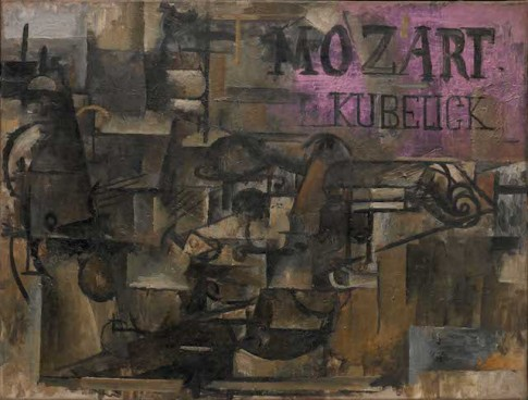 Georges Braque, Violin: 'Mozart Kubelick,' 1912