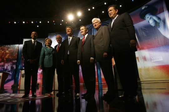 It's been almost a decade since the last Democratic primary debate. (AP)