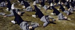 Army basic training. / AP