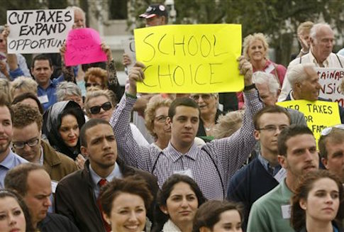 School choice rally in Tallahassee, Fla. / AP