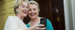 Celeb selfie. (AP)