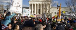 Pro-life demonstrators march past the Supreme Court in Washington, Thursday, Jan. 22, 2015, during the annual March for Life.  / AP