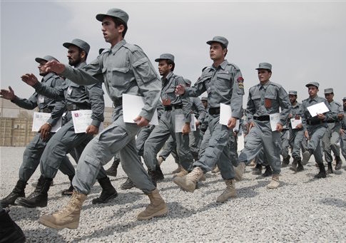 Afghan police officers