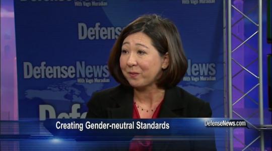 Pentagon official Juliet Beyler / Screen Shot, Defense News