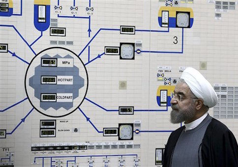 President Hassan Rouhani of Iran visits one of the country's nuclear plants / AP