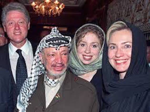 Image result for picture of hillary clinton with yasser arafat