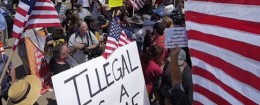 Immigration protest in California / AP