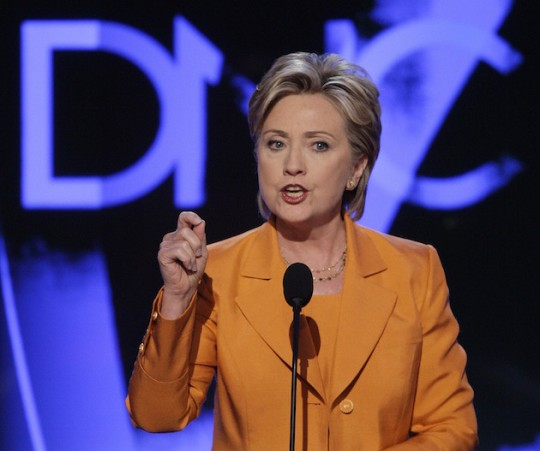 Hillary Clinton addresses the Democratic National Convention in 2008. (AP)