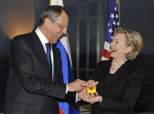 Then-Secretary of State Hillary Clinton with Russian Foreign Minister Sergey Lavrov / AP