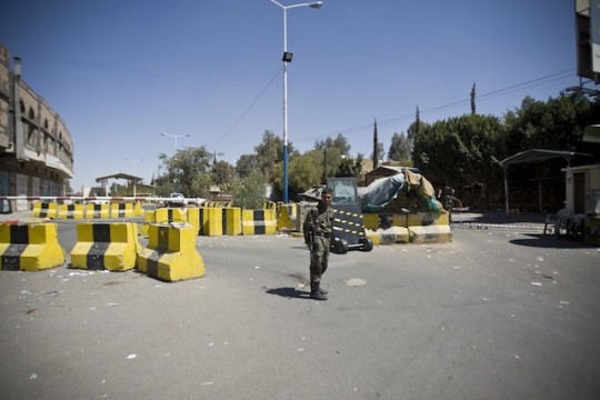 The evacuated U.S. Embassy in Sanaa, Yemen / AP