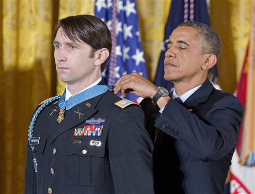 William Swenson awarded the Medal of Honor, Washington D.C. / AP
