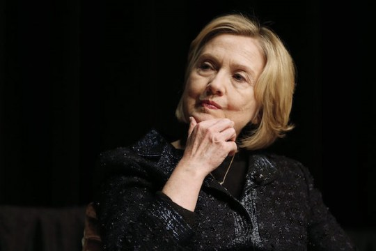 Journeyman presidential candidate Hillary Clinton thinks about money. (AP)