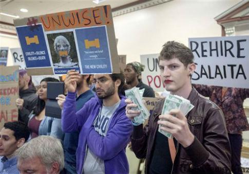 Steven Salaita protests