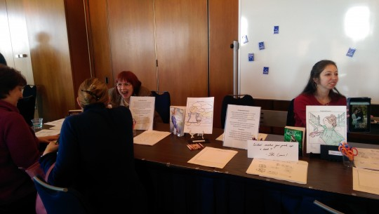 Booth at romance novel symposium held at the Library of Congress / Elizabeth Harrington