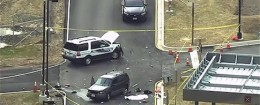 An aerial view of a shooting scene at the National Security Agency at Fort Meade in Maryland / REUTERS