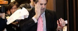 Mark Lippert, U.S. ambassador to South Korea, after the attack / AP
