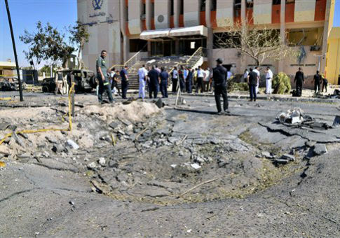 The site of a suicide attack by Ansar Beit al Maqdis in Sinai. / AP