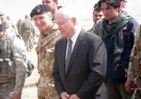 Ajmal with Robert Gates, then the secretary of defense.