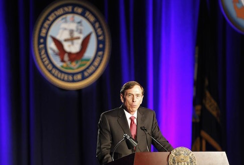 Former CIA Director and retired general David H. Petraeus speaks as the keynote speaker at the University of Southern California annual dinner for veterans and ROTC students, in Los Angeles, California March 26, 2013