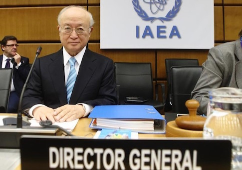 International Atomic Energy Agency (IAEA) Director General Yukiya Amano waits for the start of a board of governors meeting at the IAEA headquarters in Vienna March 2