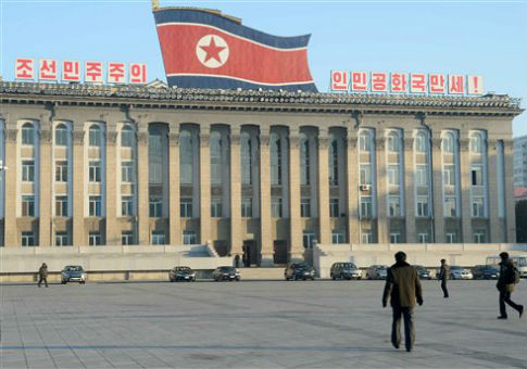 Kim Il Sung Square in the center of Pyongyang, North Korea / AP