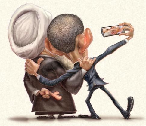 Obama Rouhani Selfie