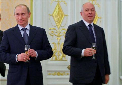 Vladimir Putin and Sergei Chemezov  / AP