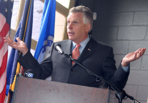 Gov. Terry McAuliffe of Virginia