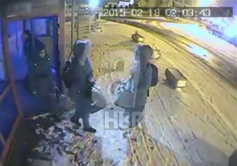 Footage from Turkish TV shows the three British girls who left the UK to join the Islamic State. / AP