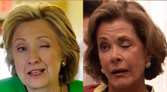 Hillary Clinton (left) and Lucille Bluth.