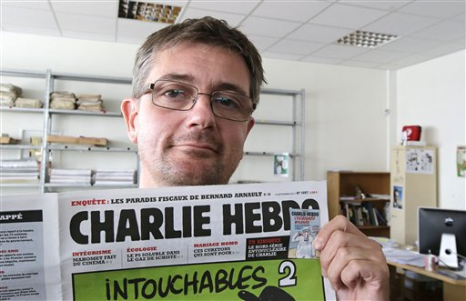 Charb, a martyr for free speech who some artists feel uncomfortable defending (AP)