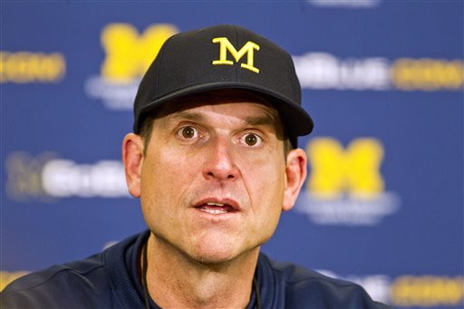 Michigan head coach Jim Harbaugh / AP