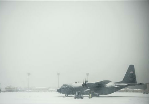 A C-130 at Pope Field, Fort Bragg, N.C. / AP