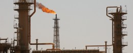 Iraq's largest oil refinery in the northern town of Baiji, Iraq. / AP