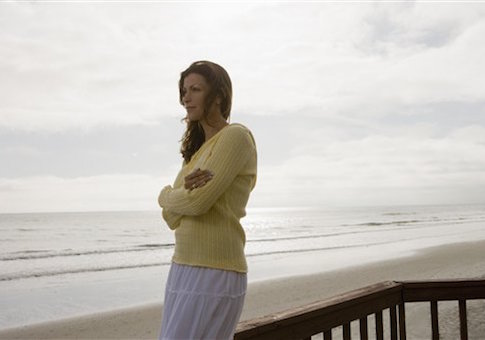 A woman at the beach / AP