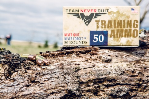 A box of training rounds / Team Never Quit
