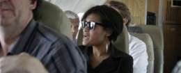 Cheryl Mills on a State Department trip to Haiti / AP